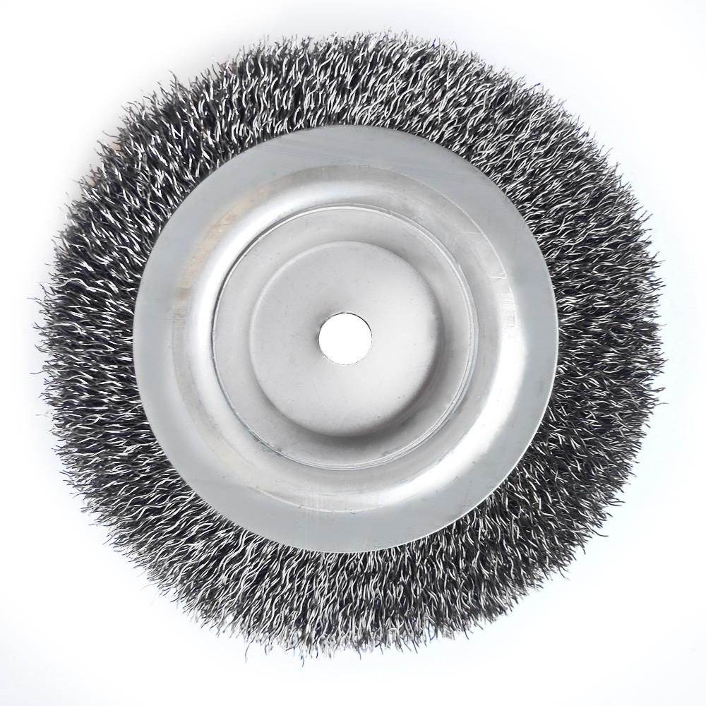 Escova Circular Ondulada Aço Carbono 6 X 3/4 X1/2 Abrasfer