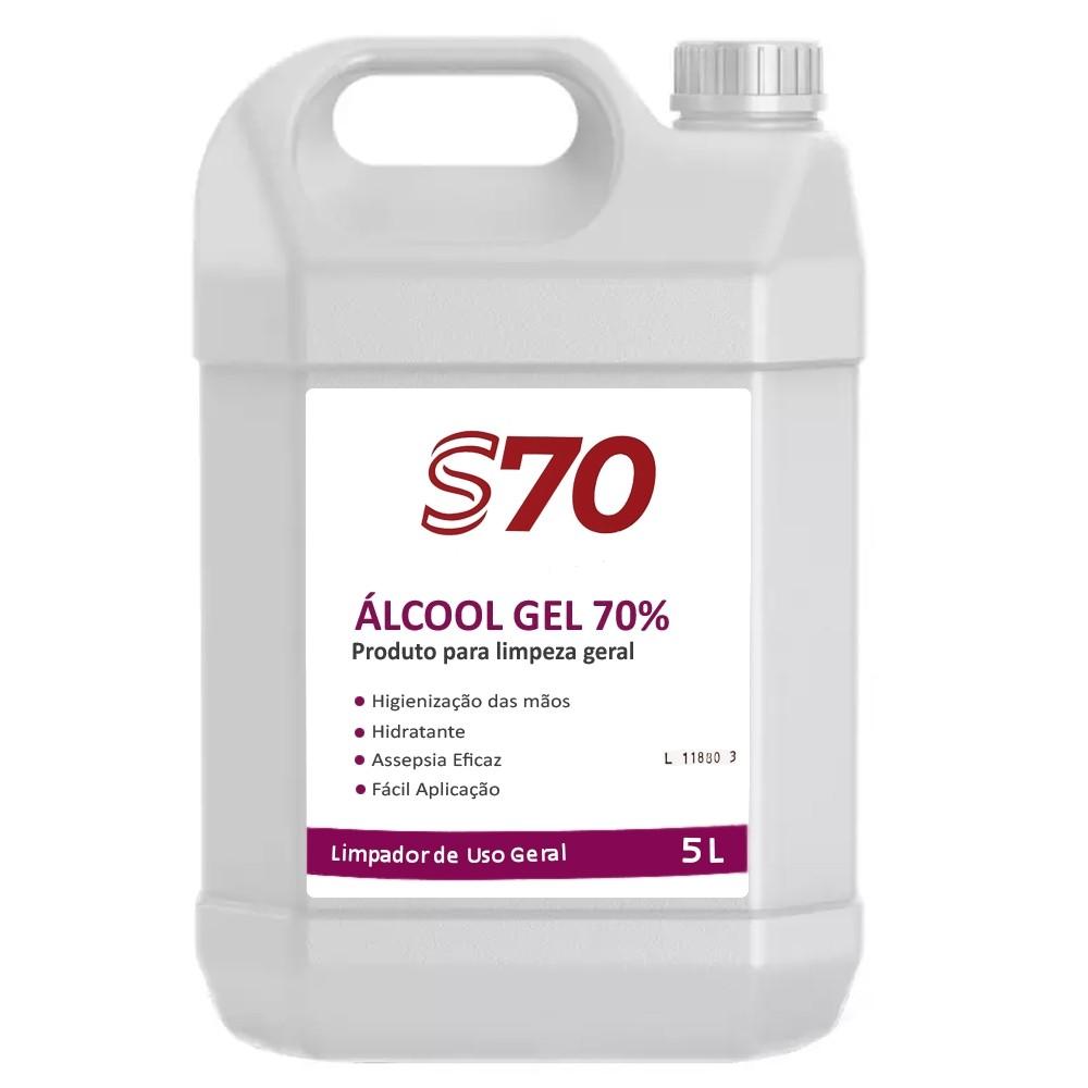 Alcool Gel 70% Galão com 5 Litros Antisséptico