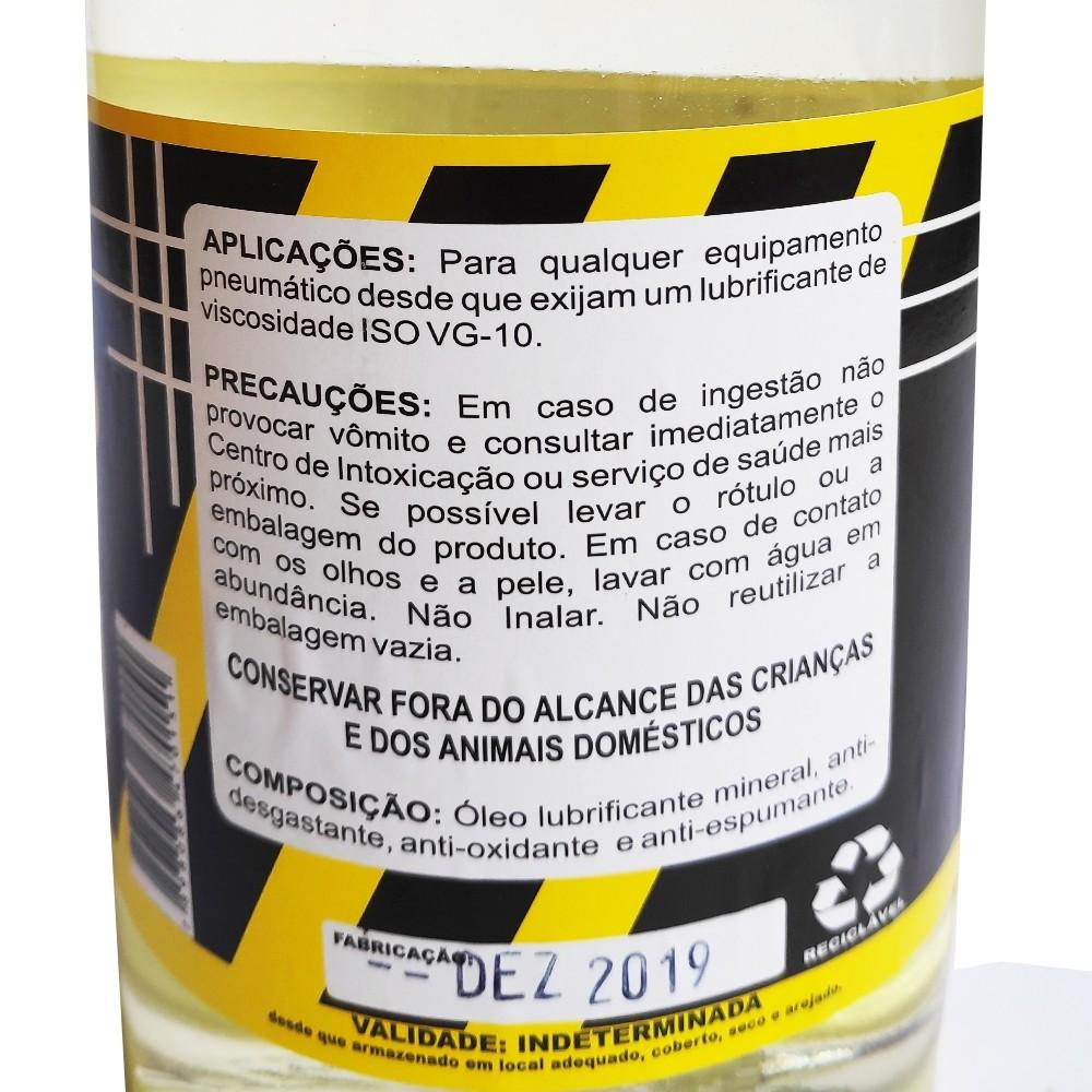 Óleo para Ferramentas Pneumáticas, Lubrificante e Fluido Hidráulico 1 Litro - Hidramac