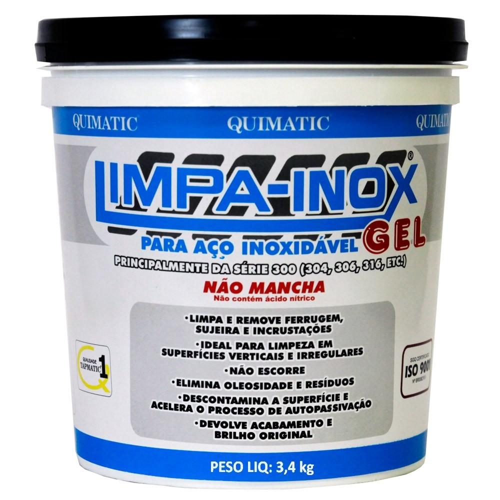 Gel Decapante Limpa Inox Industrial Quimatic Tapmatic3,4 kg