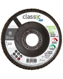 Disco Flap 4 1/2 Grão 40 Norton Para Aço Carbono e Inox – Classic Basic