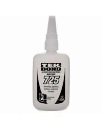 Cola Instantânea para Borrachas, Plásticos, Metais - Superfícies Flexíveis - Tekbond 725 - 20 Grs