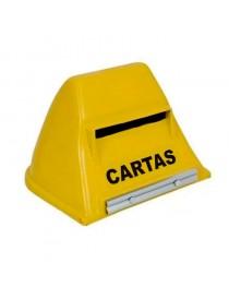 Caixa de Cartas Correios Amarela PVC para Muros, Portão e Grades - Subrap
