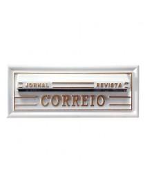 Caixa de Cartas, Revista, Jornal Correios para Embutir em Muros PVC Branco – 28P