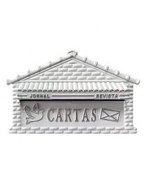 Caixa de Cartas, Revista, Jornal Correios para Embutir em Muros PVC Branco – 08 P