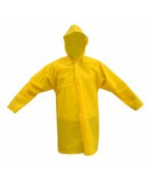 Capa de Chuva Amarela em PVC Forrada