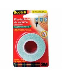 Fita dupla Face de espuma Scotch 3M 24 mm x 1,5 Mts