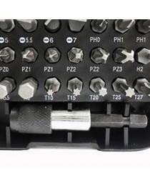 Jogo de Pontas Bits para Parafusadeira com Engate Rápido 31 Peças Eda 8ZP