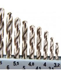 Jogo de Brocas Dormer para Metais em Aço Rápido com 13 Peças 1,5 a 6,5 mm