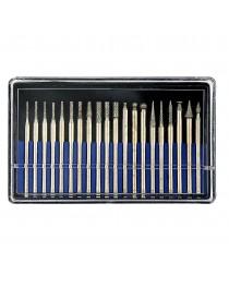 Kit  com 20 Pontas Diamantadas para Mini Retifica e Esmeril  Western W-20