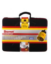 Kit Serra Copo Bimetal 19 a 76 mm com 15 Peças e Maleta Starrett - Fast Cut