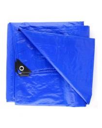 Lona Plástica 4x4 com Ilhóis 75 Gramas Azul - Starfer