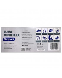 Luva Vinilflex Transparente sem Pó G CX 100 UN Bompack