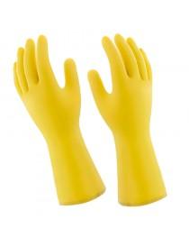 Luva de Látex Natural Forro de Algodão Safetex Pro 280 Mucambo Amarelo