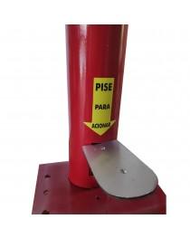Totem Dispenser de Alcool Gel por Pedal 1 Metro Vermelho