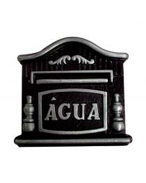 Visor Para Relógio De Água Hidrômetro Prata e Preto Colonial Alumínio Fundido