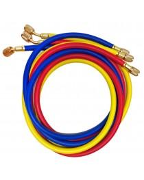 "Kit com 3 Mangueiras Flexíveis 1/4"" para Manifold 2,43 mts"